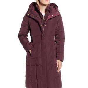 COLE HAAN SIGNATURE Puffer Zip Hooded Down Jacket